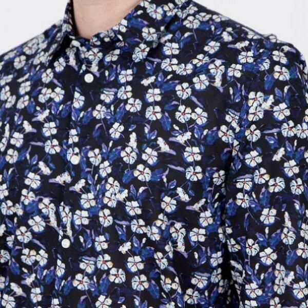 zanaga antony morato morato chemise fleur bleu sl fa