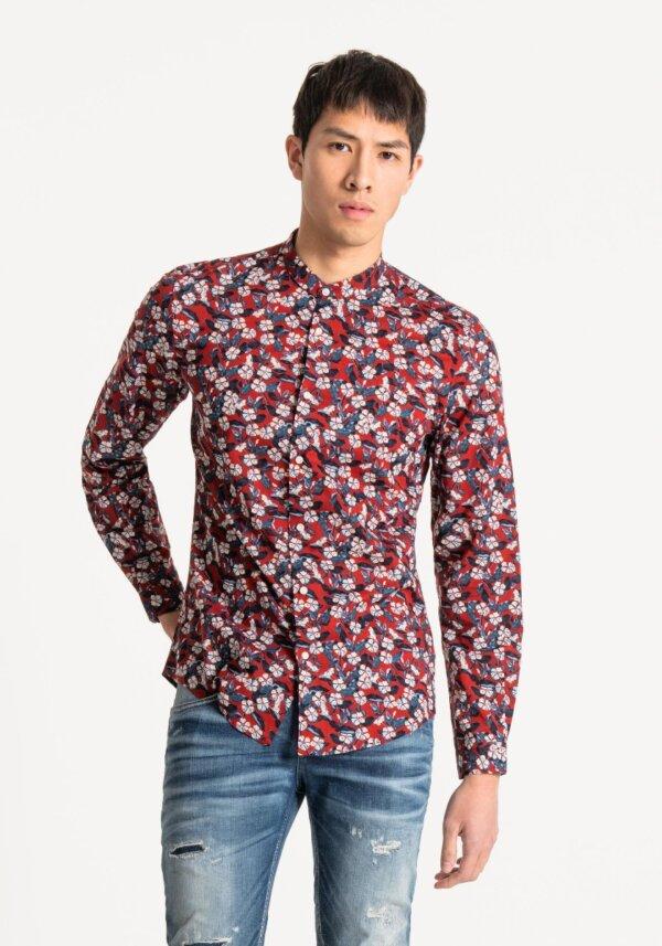 zanaga antony morato morato chemise fleur rouge sl fa