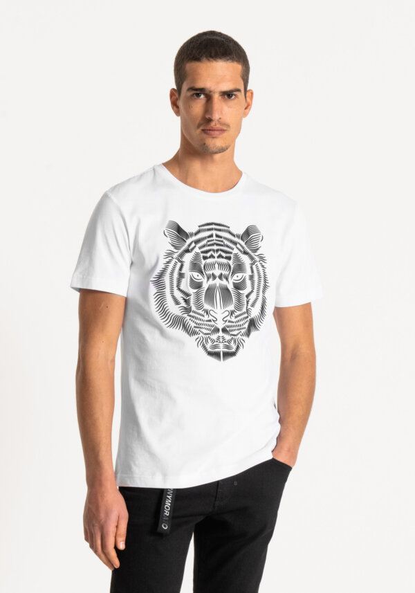 zanaga antony morato morato tshirt tigre blanc ks fa