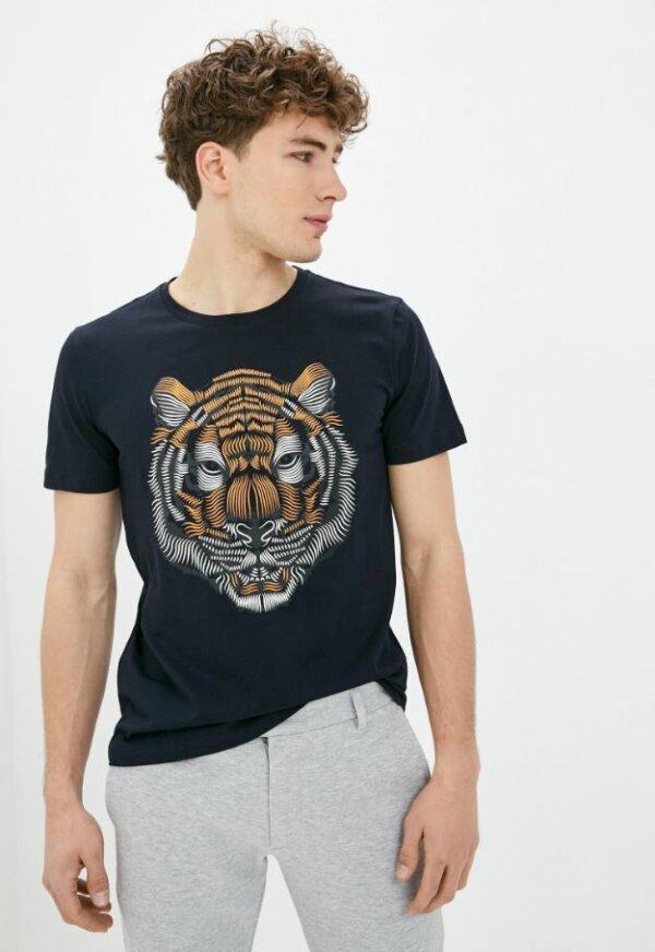 zanaga antony morato morato tshirt tigre bleucouleur ks fa