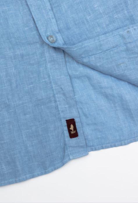 zanaga mcs mcs chemise lin bleu
