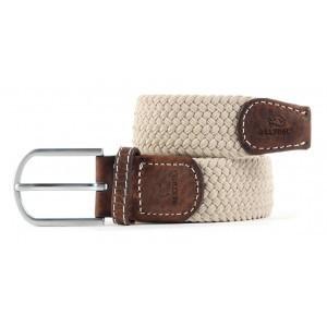 zanaga billybelt ceinture tressee elastique beige sable cm