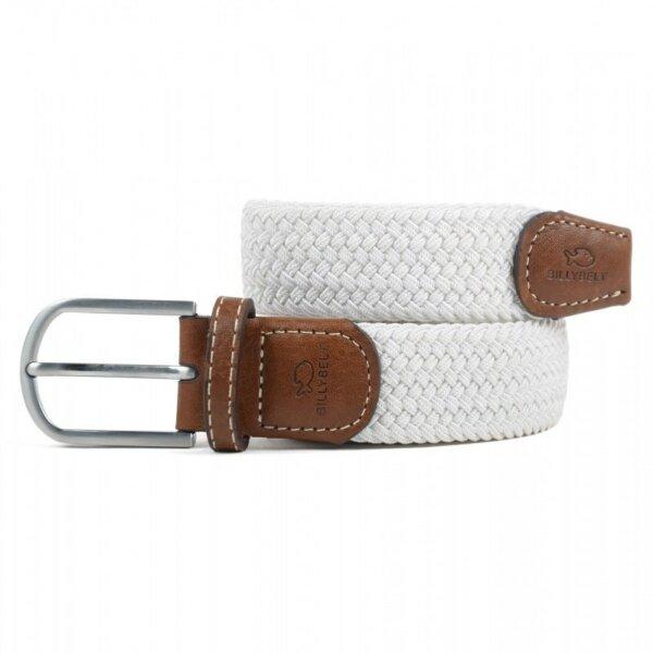 zanaga billybelt ceinture tressee elastique blanc coco cm