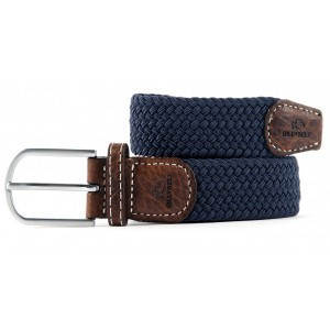 zanaga billybelt ceinture tressee elastique bleu ardoise cm