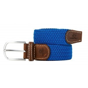 zanaga billybelt ceinture tressee elastique bleu azur cm
