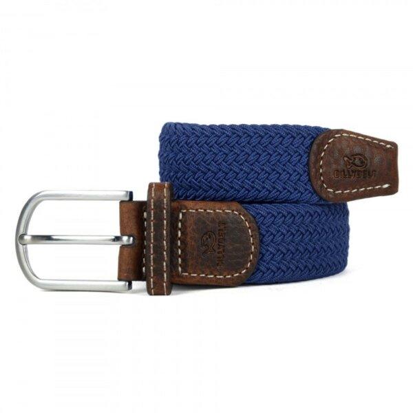 zanaga billybelt ceinture tressee elastique bleu cobalt cm