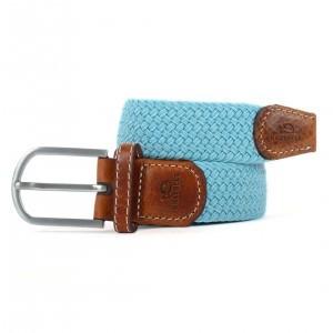 zanaga billybelt ceinture tressee elastique bleu draguee cm