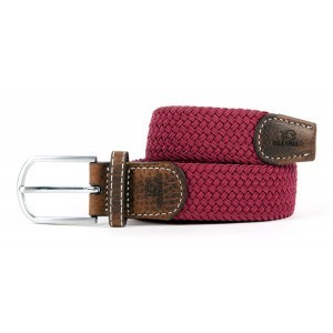 zanaga billybelt ceinture tressee elastique bordeaux cm