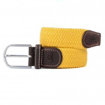 zanaga billybelt ceinture tressee elastique jaune sable cm