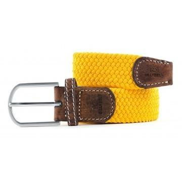 zanaga billybelt ceinture tressee elastique jaune safran cm