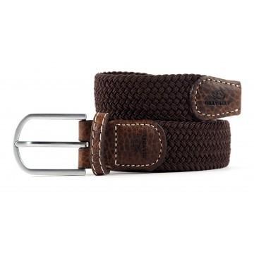 zanaga billybelt ceinture tressee elastique marron feuille cm