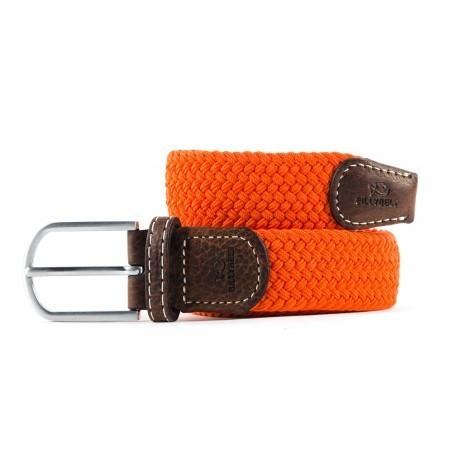 zanaga billybelt ceinture tressee elastique orange homme cm