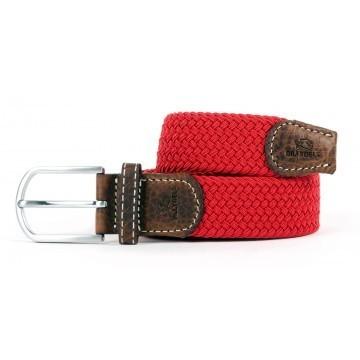 zanaga billybelt ceinture tressee elastique rouge grenade cm