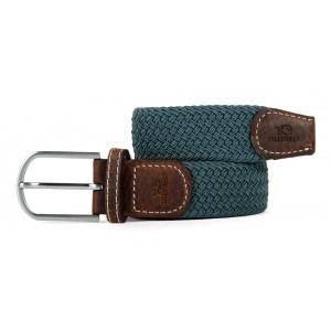 zanaga billybelt ceinture tressee elastique unie gris marin cm